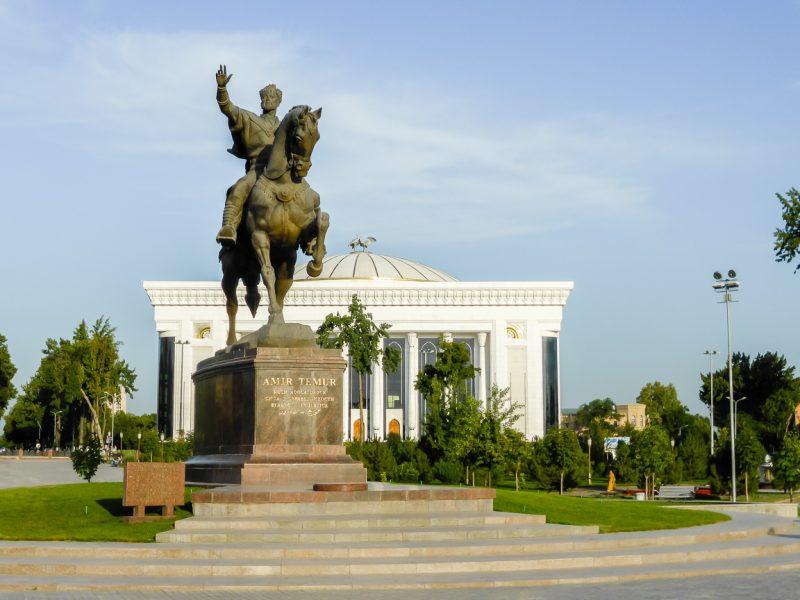 Beeld van Timur in Tashkent, Oezbekistan