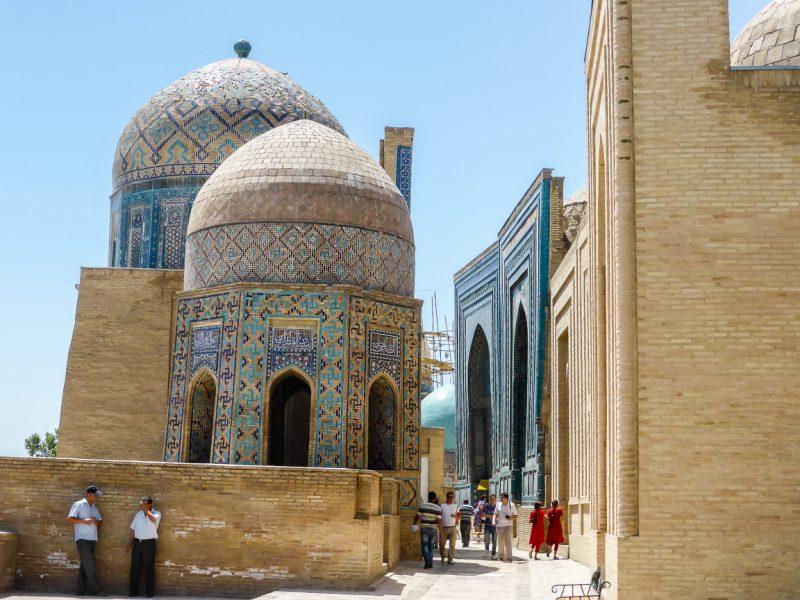 De Shahr-i-Zindah II, Avenue of Tombs, in Samarkand, Oezbekistan