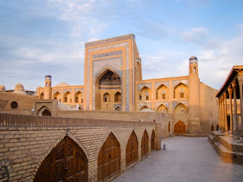 Plein in Khiva, Oezbekistan