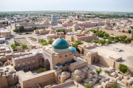 Uitzicht over Khiva, Oezbekistan