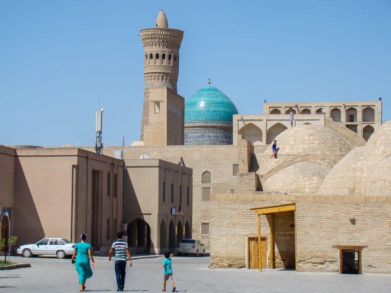 Wandelen door Bukhara, Oezbekistan