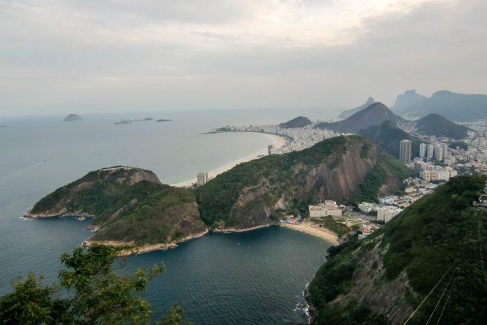 Uitzicht over Rio de Janeiro vanaf Pao de Azucar, Brazilië