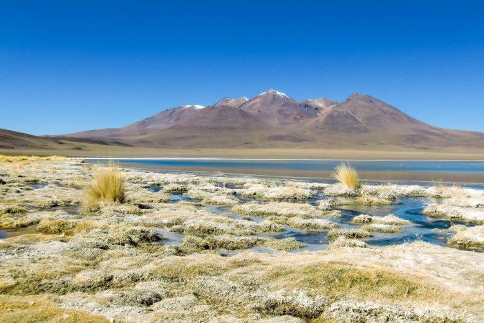 Meer bij bij Uyuni, Bolivia