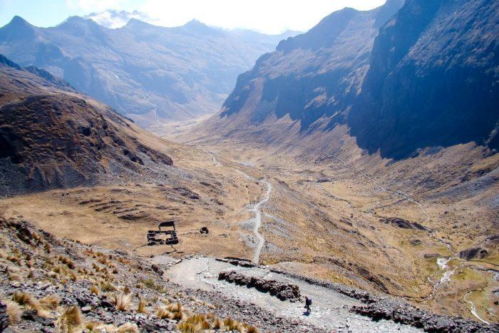 Vallei in de Cordillera Real in de El Choro trekking, Bolivia