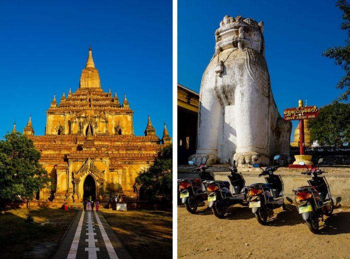 Tempel en ebikes in Bagan, Myanmar