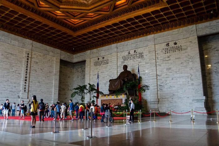 innen bij Chiang Kai Shek Memorial in Taipei, Taiwan