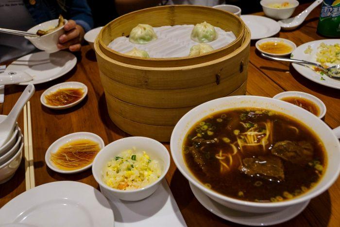 Dumplings in Din Tai Fung in Taipei, Taiwan