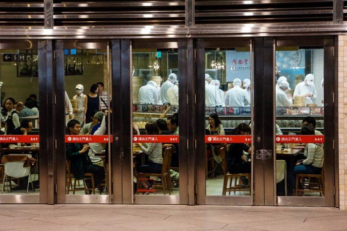 Koks bij Din Tai Fung in Taipei, Taiwan