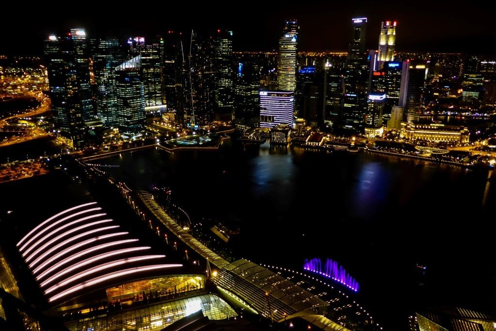 Marina Bay vanuit Marina Bay Sands, Singapore