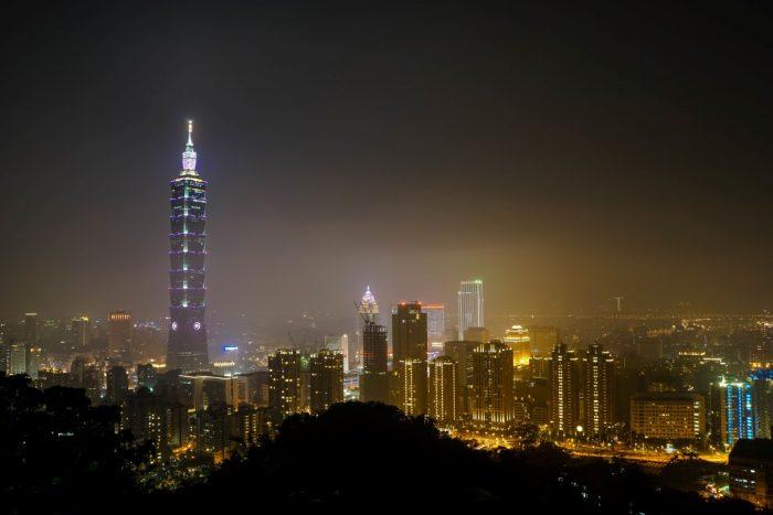 Skyline van Taipei, Taiwan