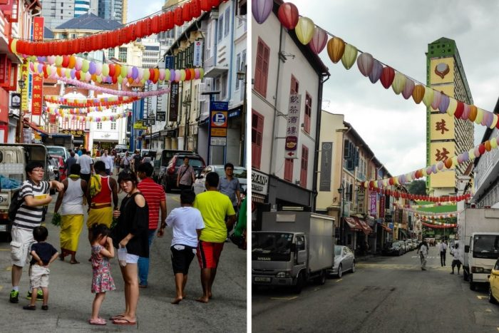 Straat in Chinatown, Singapore