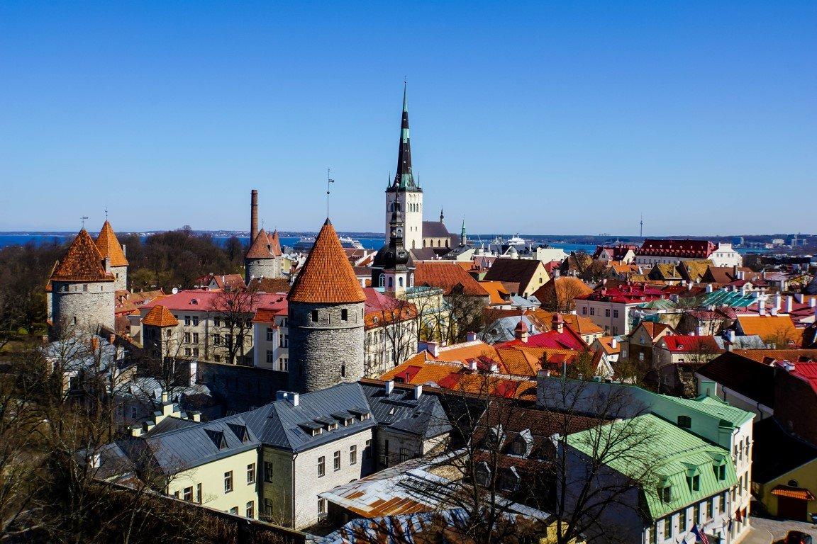 Uitzicht vanaf Patkuli vaateplats in Tallinn, Estland