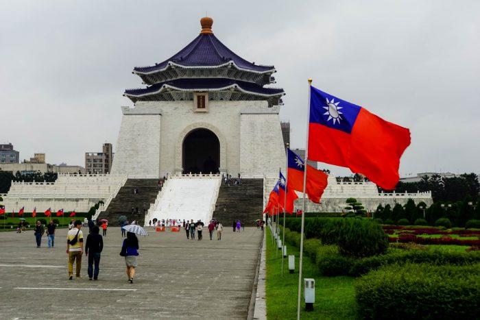 Weg naar Chiang Kai Shek Memorial in Taipei, Taiwan