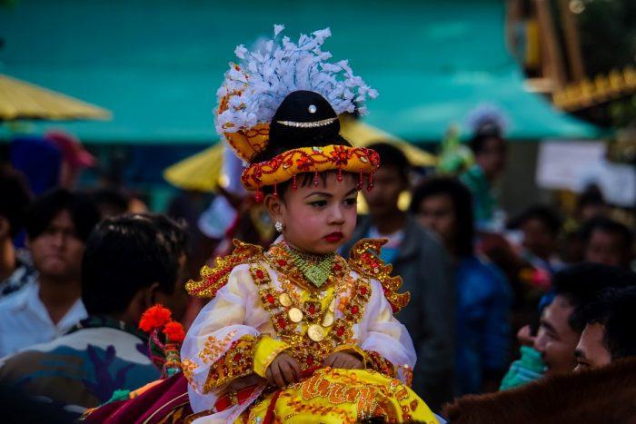 Boeddistische ceremonie Myanmar
