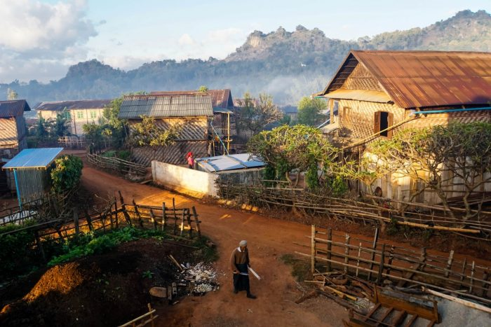 Dorpje bij trekking Kalaw naar Inle, Myanmar