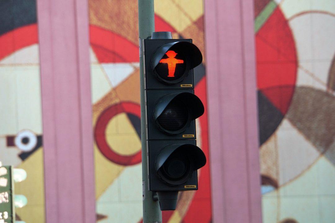 Stoplicht in Berlijn, Duitsland