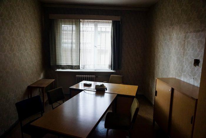 Verhoorkamer in Hohenschönhausen in Berlijn, Duitsland