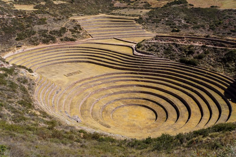 Inca-laboratorium in Moray in Sacred Valley, Peru