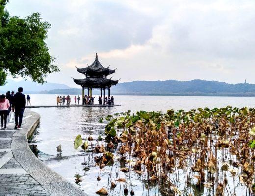 Pagode op West Lake in Hangzhou, China