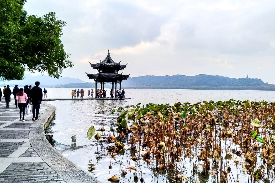 Pagode op West Lake in Hangzhou, China