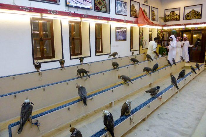De Valkensouq bij Souq Waqif in Doha, Qatar