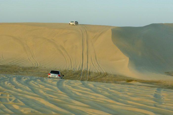 De woestijn bij Khor al Adaid in Qatar