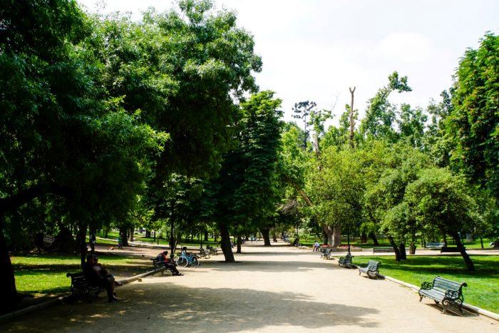 Het Parque Forestral in Santiago de Chile, Chili