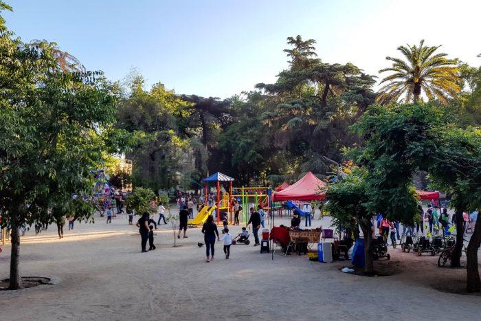 Parque Forestral in Santiago de Chile, Chili