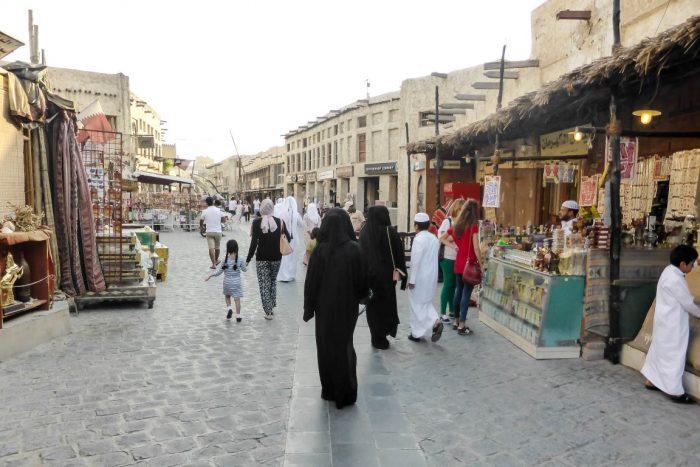 Souq Waqif overdag in Doha, Qatar