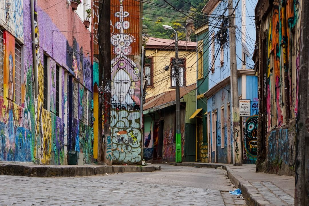 Street art in Valparaiso, Chili
