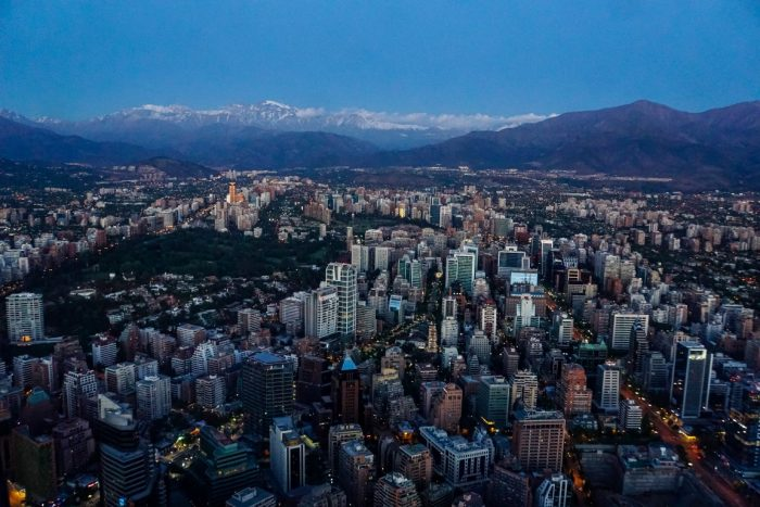 Uitzicht vanaf Costanera Center in Santiago de Chile, Chili