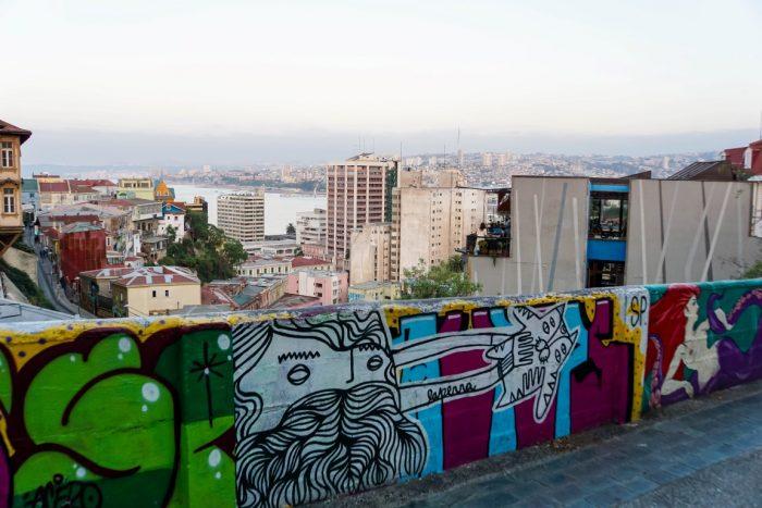 Weids uitzicht over Valparaiso, Chili