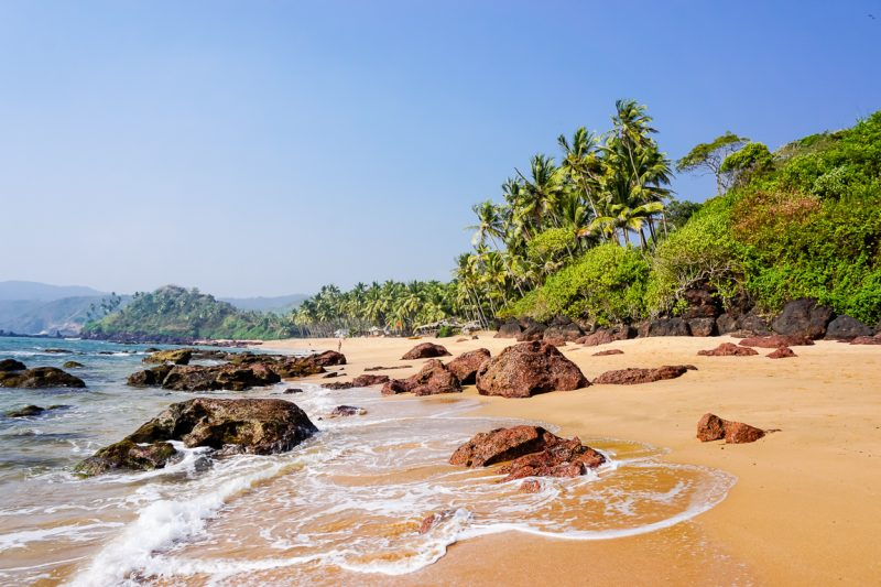 Een strand in Goa, India