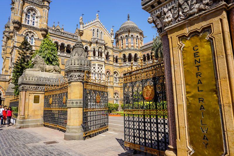 Het koloniale treinstation van Mumbai, India