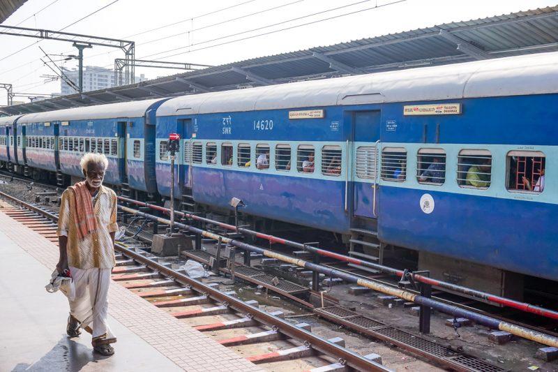 Het treinstation van Bangalore, India