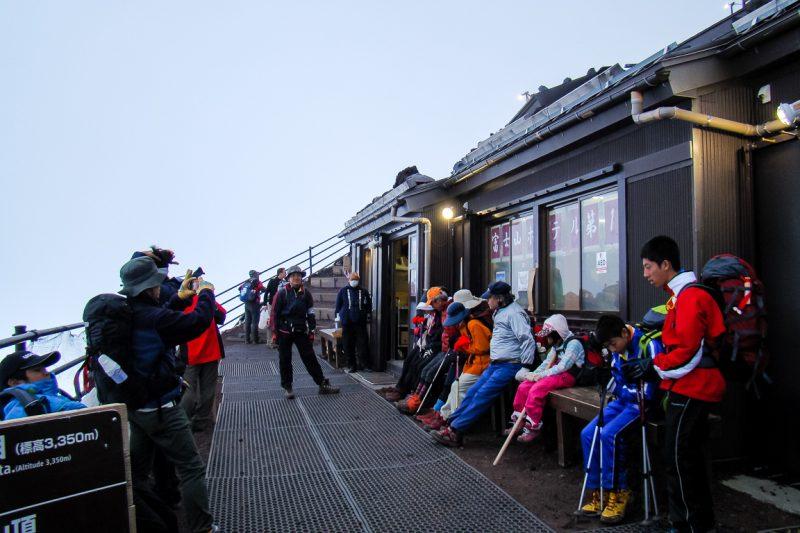 Berghut op Mount Fuji Fujisan, Japan