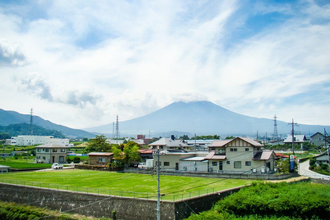 Uitzicht op Mount Fuji Fujisan, Japan
