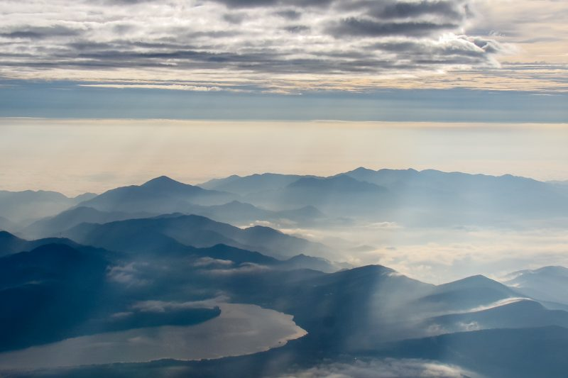 Uitzicht vanaf Mount Fuji Fujisan, Japan