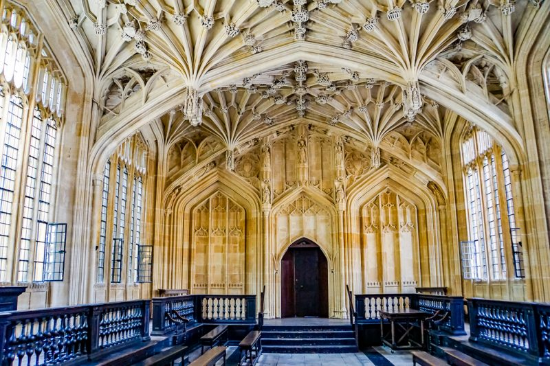 Divinity School in Bodleian Library in Oxford, Engeland