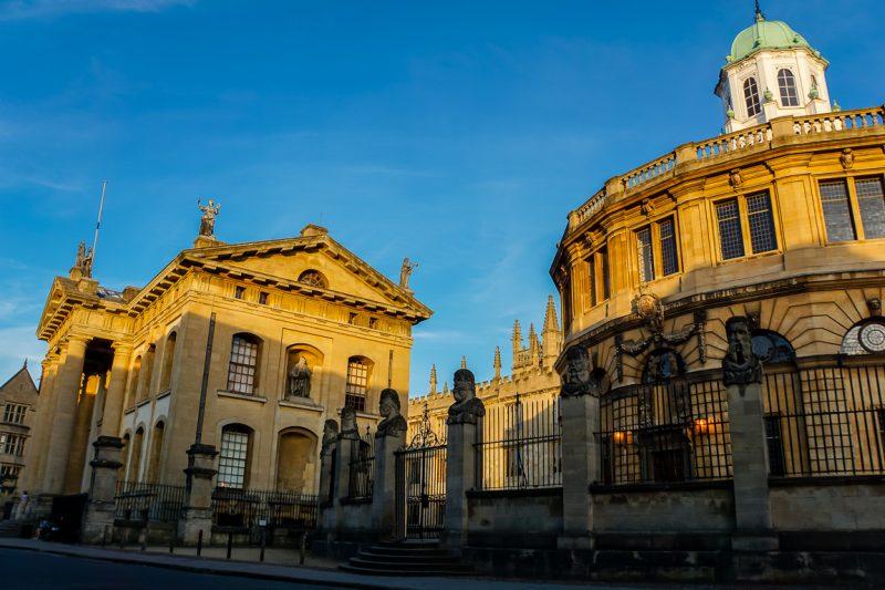 Het Sheldonian Theatre in Oxford, Engeland