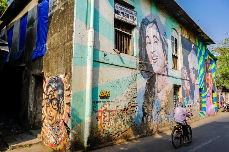 Street art in Bandra in Mumbai, India