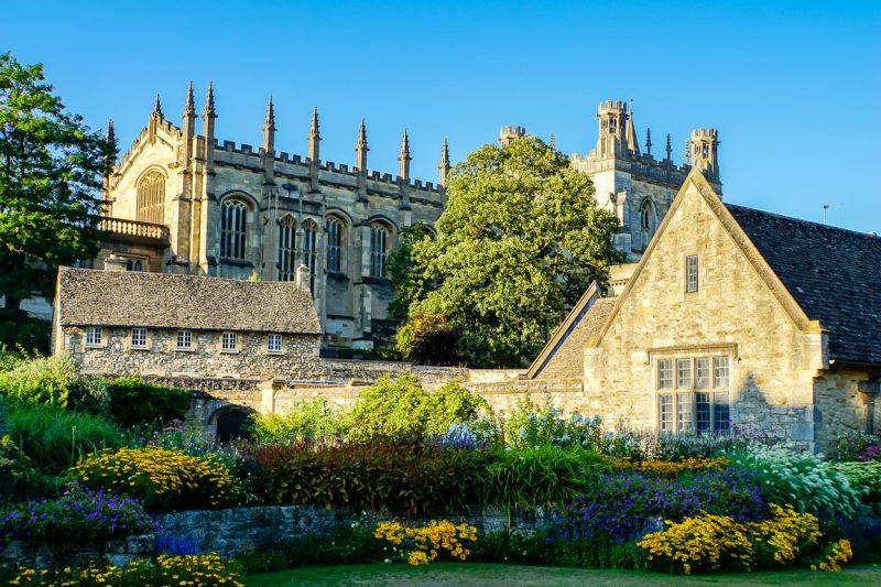 Uitzicht op Christ Church College in Oxford, Engeland