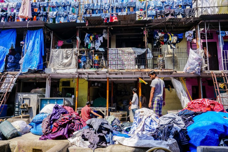 Was in Dhobi Ghat in Mumbai, India