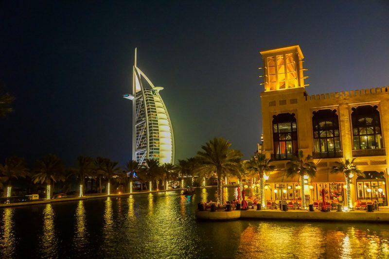 Burj Al Arab en Souk Madinat Jumeirah, Dubai