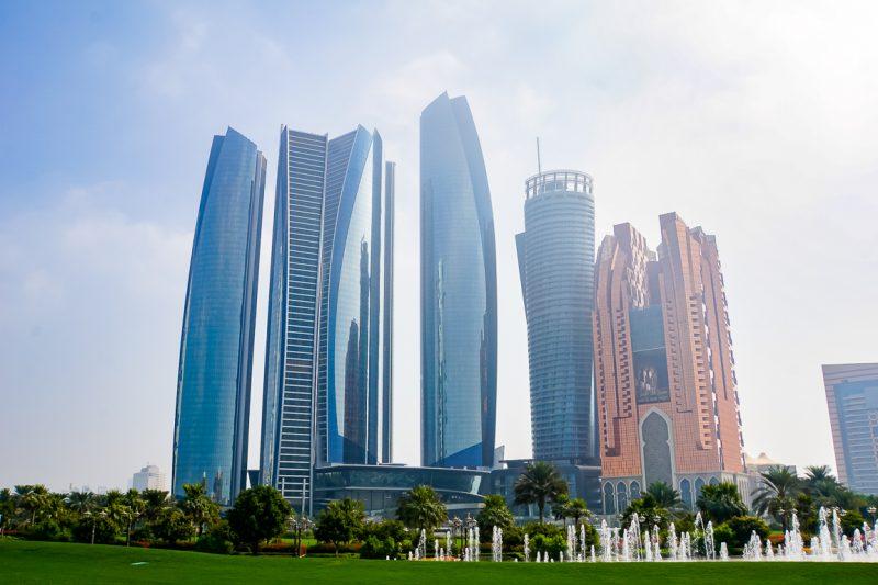 De Etihad Towers in Abu Dhabi