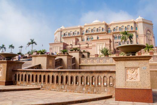 Het Emirates Palace Hotel in Abu Dhabi