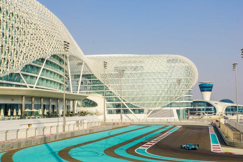 Het Yas Marina Circuit in Abu Dhabi