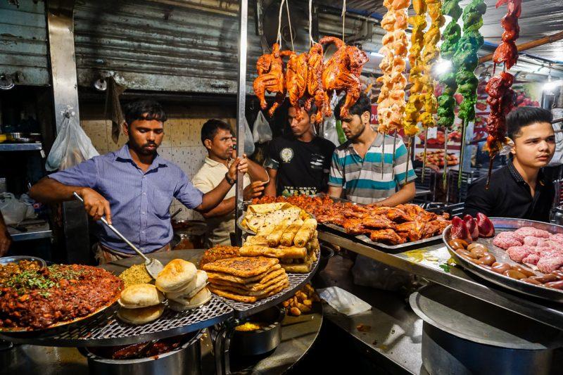 Street food in Mumbai, India