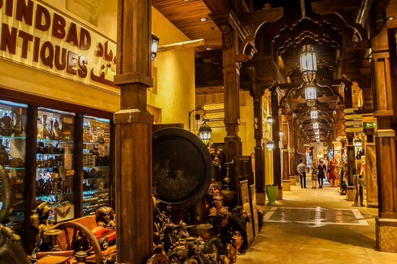 Winkelen in Souk Madinat Jumeirah, Dubai