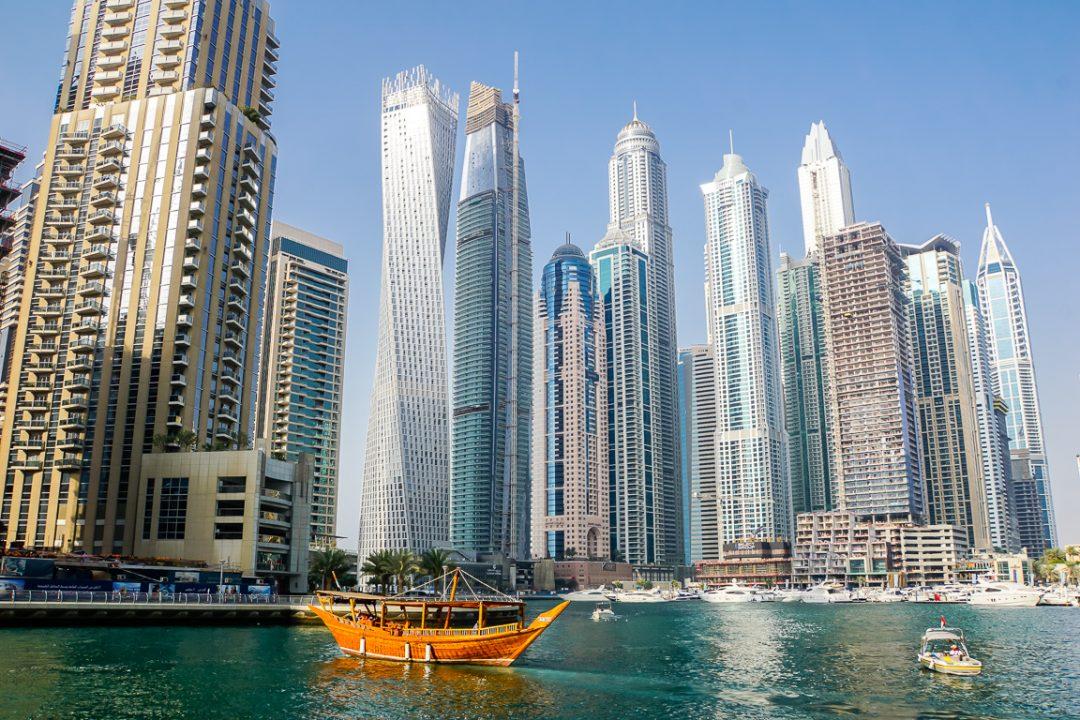 Wolkenkrabbers in Dubai Marina, Dubai